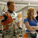 Matt Damon, Jessica Chastain and Sebastian Stan in The Martian