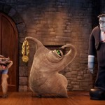 Wolf man, Mummy and Frankenstein's monster in Hotel Transylvania 2