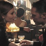 Emily Browning and Tom Hardy in Legend
