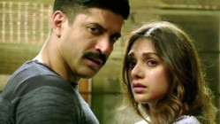 Farhan Akhtar and Aditi Rao Hydari in Wazir