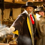 Samuel L Jackson and Walton Goggins in The Hateful Eight