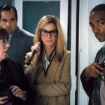 Ann Dowd, Sandra Bullock and Anthony Mackie in Our Brand Is Crisis