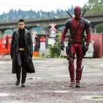 Brianna Hilderbrand and Ryan Reynolds in Deadpool