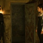 Lena Headey and Lily James in Pride and Prejudice and Zombies