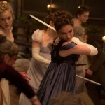Lily James and Bella Heathcote in Pride and Prejudice and Zombies