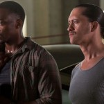 Anthony Mackie and Clifton Collins Jr in Triple 9