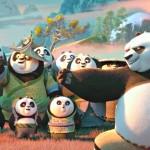 Po teaches the Pandas in Kung Fu Panda 3