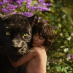 Neel Sethi with Bagheera (Ben Kingsley) in The Jungle Book