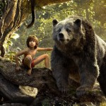 Neel Sethi with Baloo (Bill Murray) in The Jungle Book