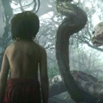 Neel Sethi with Kaa (Scarlett Johansson) in The Jungle Book