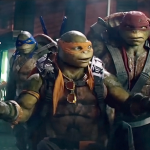 The gang in Teenage Mutant Ninja Turtles: Out of the Shadows