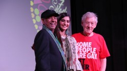 Sridhar Rangayan (Festival Founder and Director) with Actor/Special Guest Sonam Kapoor and Chief Guest and Actor Sir Ian McKellen