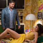 Russell Crowe and Margaret Qualley in The Nice Guys