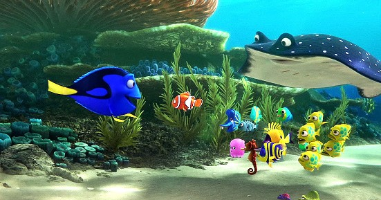 A scene from Finding Dory