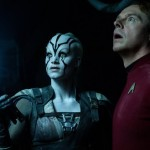 Jayla and 'Montgomery Scotty' in Star Trek Beyond