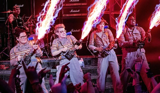The foursome in Ghostbusters