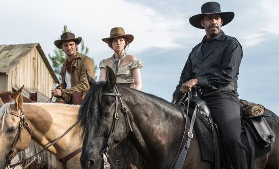 Chris Pratt, Haley Bennett and Denzel Washington in The Magnificent Seven