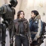 K2-SO, Felicity Jones and Diego Luna in Rogue One