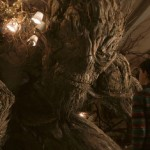 The monster (voiced by Liam Neeson) and Lewis MacDougall in A Monster Calls