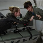 Britt Robertson and Asa Butterfield in The Space Between Us