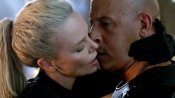 Charlize Theron and Vin Diesel in Fast of the Furious