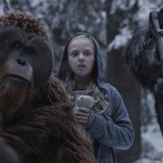 Karin Konoval as Maurice and Amiah Miller in War for the Planet of the Apes