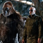 Woody Harrelson and his gorilla crony in War for the Planet of the Apes
