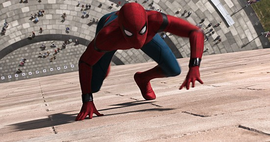 Spider-Man does his thing in Spider-Man: Homecoming