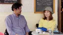 Jung Jin-young and Isabelle Huppert in Claire's Camera