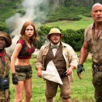 Kevin Hart, Karen Gillan, Jack Black and Dwayne Johnson in Jumanji: Welcome to the Jungle