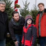 Mel Gibson, Mark Wahlberg, Owen Vaccaro and Will Ferrell in Daddy's Home 2
