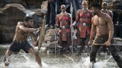The beefy Chadwick Boseman and Michael B Jordan battle it out in Black Panther